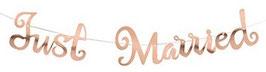 Girlande Just Married rosegold 05