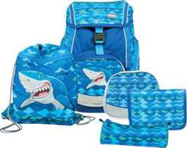 FUNKI(TM) Schulrucksack-Set Flexy-Bag 5teilig   Big Shark005