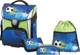 SCHNEIDERS Schultornister-Set Toolbag Plus LED 4teilig Soccer Champ 034
