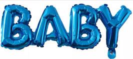 Ballongirlande BABY blau 06