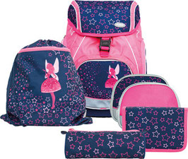FUNKI(TM) Schulrucksack-Set Flexy-Bag 5teilig Neon Fair 010