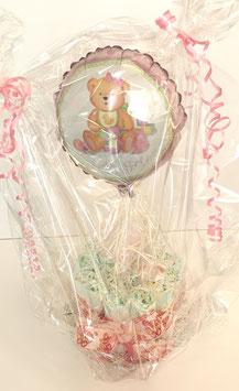 Windeltorte rosa mit Ballon 09