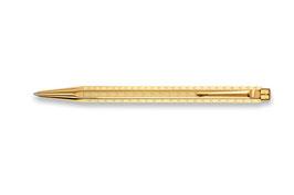 Kugelschreiber Ecridor Chevron vergoldet Caran d'Ache
