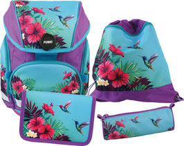 FUNKI(TM) Schulrucksack-Set Joy-Bag 4teilig Tropical 019