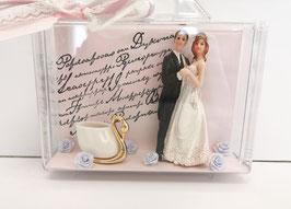 Geldköfferli Hochzeitspaar rosa 07