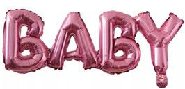 Ballongirlande BABY rosa 05