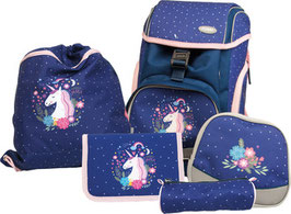 FUNKI(TM) Schulrucksack-Set Flexy-Bag 5teilig Unicorn 001