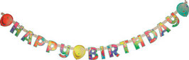 Girlande Happy Birthday Balloons 02
