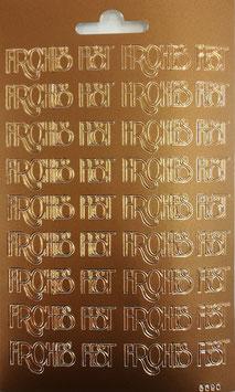 Schriftzug Frohes Fest bronze