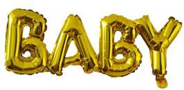 Ballongirlande BABY gold 07