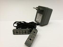 Beleuchtungstrafo mit 2 Leisten à 5 Stecker