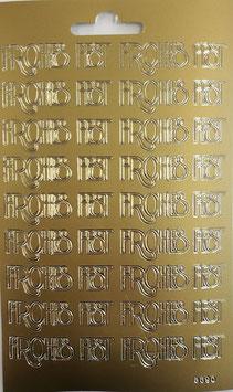 Schriftzug Frohes Fest gold