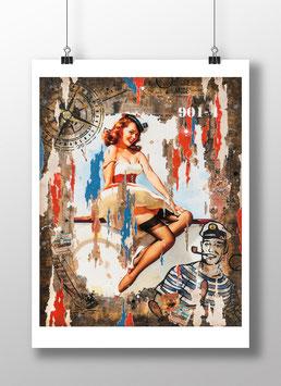 "Tirage d'art ""Miss Navy Sailor"""