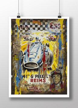 """Tirage d'art """"Grand Prix de Reims 1954"""""""