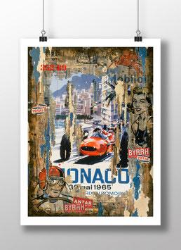 """Tirage d'art """"Grand Prix de Monaco 1965"""""""