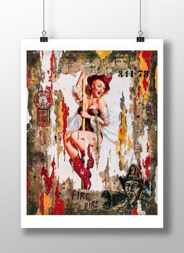 """Tirage d'art """"Miss Firefighter"""""""