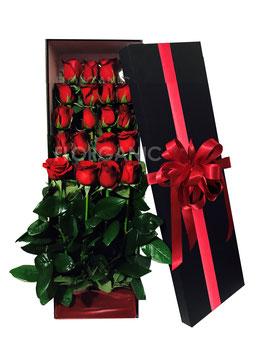 BOX DELUXE ROSES (24 ROSAS)