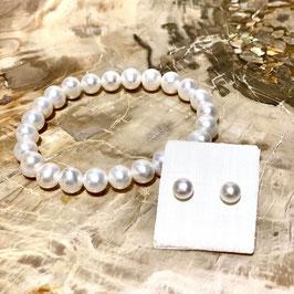 Perlenset -Armband & Ohrstecker