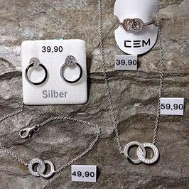 Set Rund - aus 925/- Silber (Gesamtpreis)