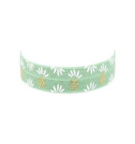 Festival Armband Ananas gold und weiß