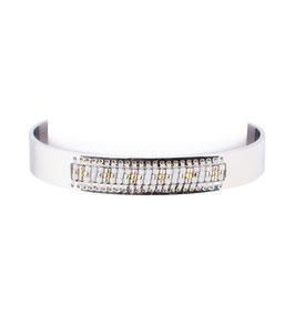 Perlen Armreif Silber