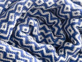 WEB:STOFF Tuch azurblau