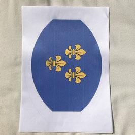 Acetatseideaufkleber zum individuellen Bedrucken der Sitzfläche für Hocker Lollo 18
