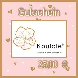 Gutschein Digital - 25,00 €