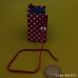 Mini-Akkordeon Buch Schlüsselanhänger oder Schlüsselringe
