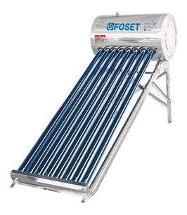 Calentador Solar de tubos al vacío de 8 tubos, 2 personas, solo baja presión.