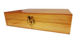 Caja de madera para regalo en color natural 20.00 x 17.00 x 5.00 cm