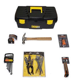 Kit básico de Herramientas para el hogar que contiene: