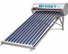 Calentador Solar de tubos al vacío de 10 tubos, 3 personas, solo baja presión.