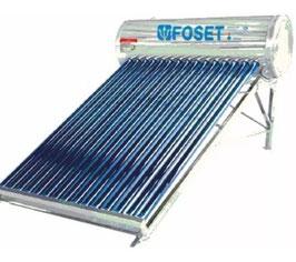 Calentador Solar de tubos al vacío de 15 tubos, 4-5 personas, solo baja presión.