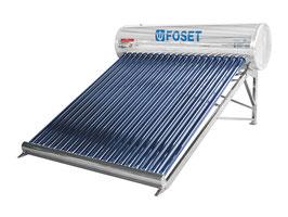 Calentador Solar de tubos al vacío de 20 tubos, 6-7 personas, solo baja presión.