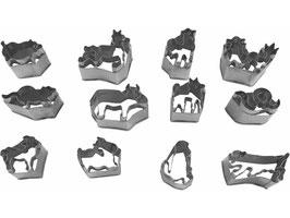 Ausstechformen im 12er-Pack aus rostfreiem Stahl