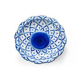 Thai Servierschale mit blau weißem Muster