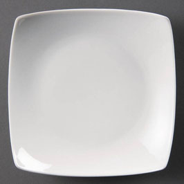 Olympia quadratischer Teller mit geschwungenem Rand