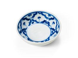 Thai Gewürzschälchen aus Porzellan mit blau weißem Muster