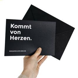 Hugo-Gutschein (A5 Klappkarte mit Umschlag)