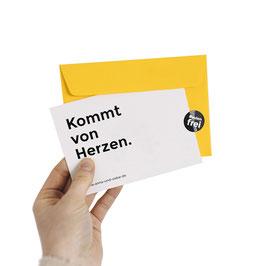 Gutschein (A6 Klappkarte mit Umschlag)