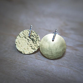 Collection ADAPTABLES - boucles d'oreilles  GAUFREES / Pendants DISQUES