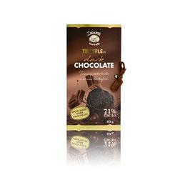 Dunkle Schokolade mit schwarzem Trüffel