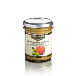 Grüner Olivenaufstrich & Apfel