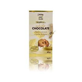Weiße Scholkolade mit weißem Trüffel