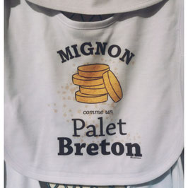 """Bavoir """"mignon comme un palet breton"""""""