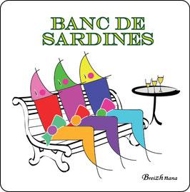 """Dessous de verre """"Banc de sardines""""- Breizh Nana"""