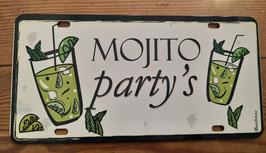 """Plaque immatriculation """"Mojito Party's"""""""