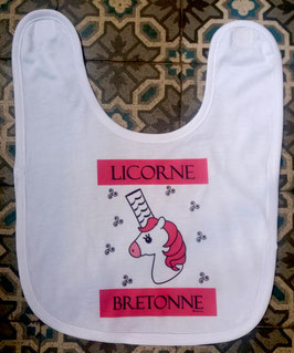 Bavoir licorne bretonne