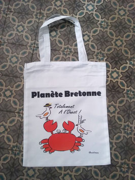 "Sac shopping "" Planète bretonne"""